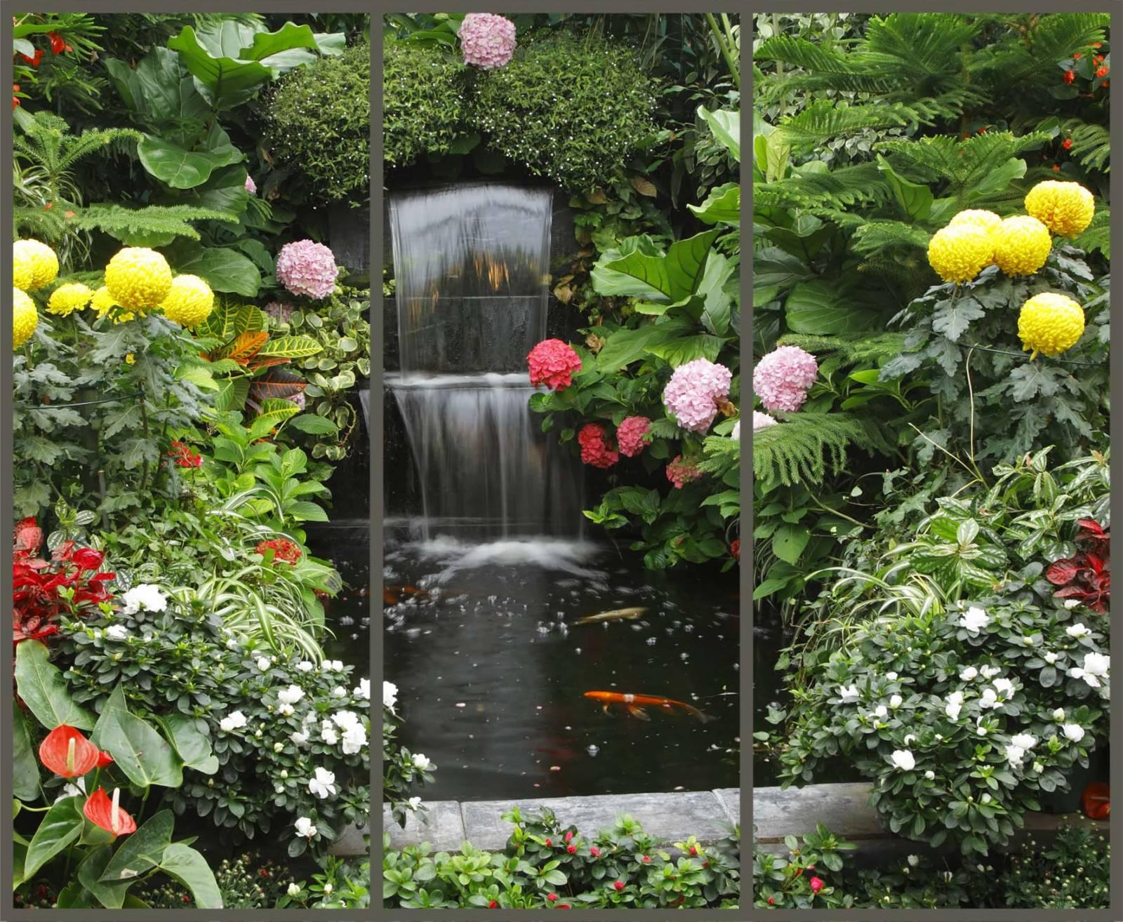 Водопад из цветов своими руками на даче